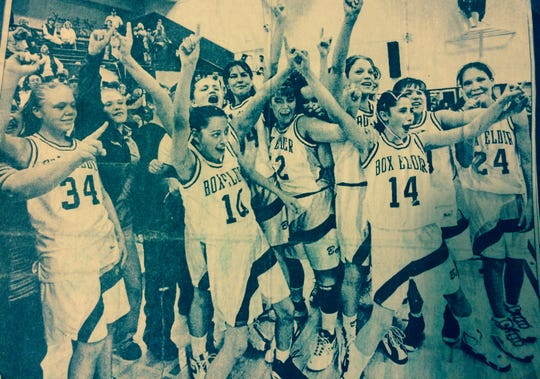 The Box Elder Bears celebrated after defeating nemesis Big Sandy in a district challenge game in 1998. Two weekend later the Bears were State C champions for the first time.