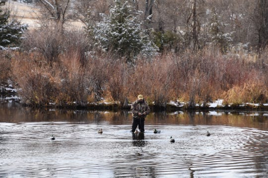 Decoys draw in the waterfowl.