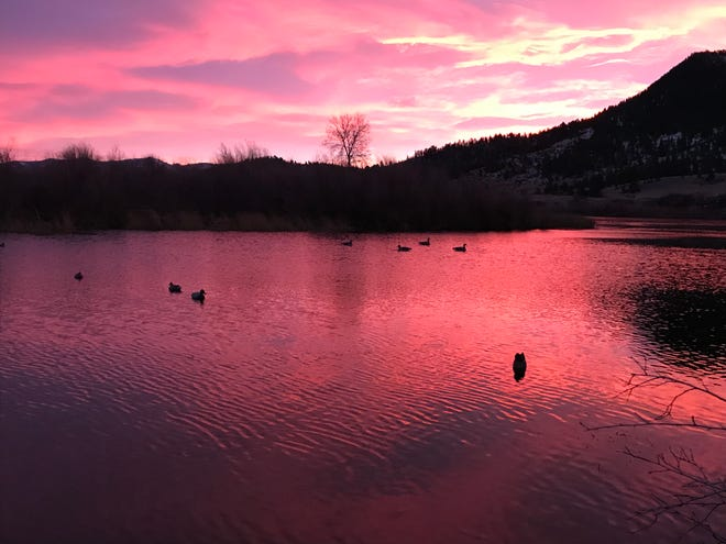 Beautiful mornings are part of the appeal of waterfowl hunting.