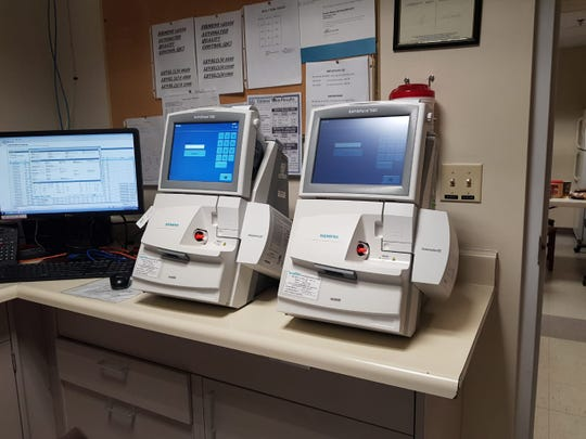 A new blood gas analyzer purchased through the Guam Memorial Hospital Volunteers Association can be seen at the hospital's respiratory care department on Dec. 12, 2018.