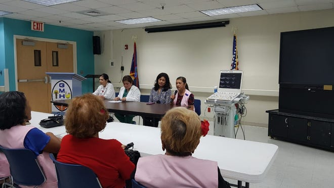 The Guam Memorial Hospital Volunteers Association raised funds to purchase a new echocardiogram for the hospital. A press conference was held on Dec. 13, 2018 to announce the donation.