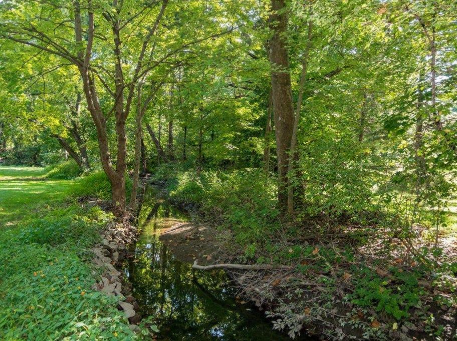 A creek runs through the property.