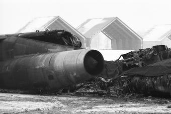 "Dec. 8, 1964: Indiana's broken arrow incident killed Air Force Capt. Manuel ""Rocky"" Cervantes, as 5 nukes burned at Bunker Hill Air Base."