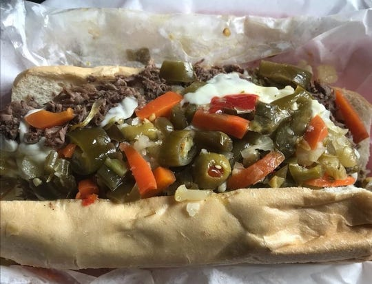 "An Italian beef sandwich, dubbed ""Da Beef,"" is the top seller at Rush On Main in Zionsville. Owners Jeff Sepiol and Johnny Vargo will open a second location in 2019 in Brownsburg."
