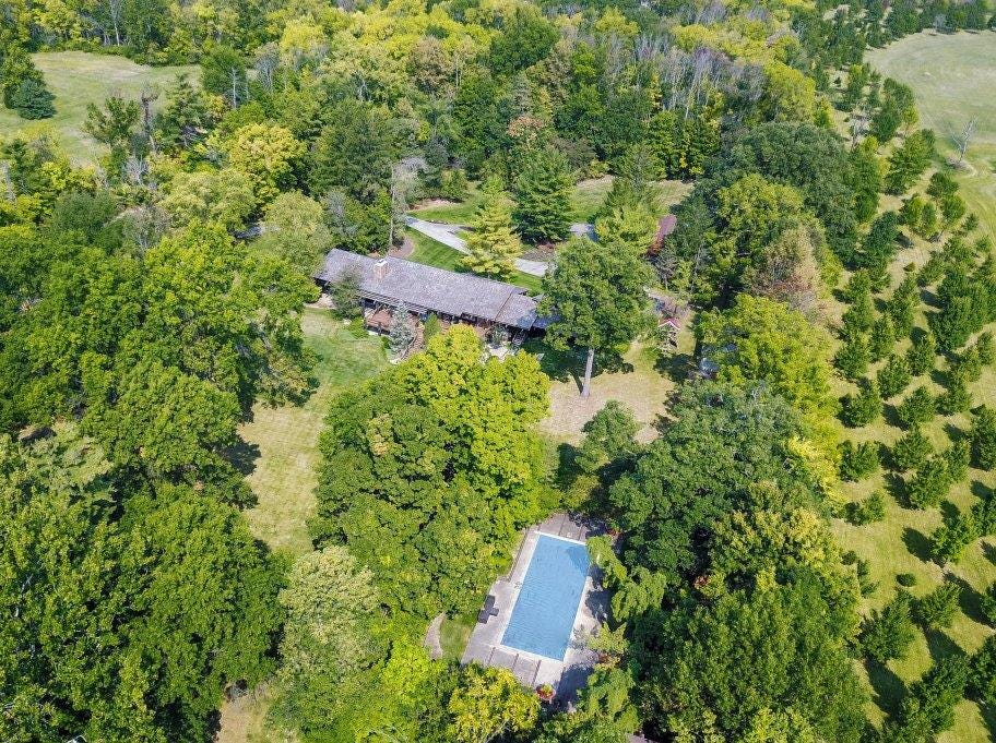 This 9,443 square-foot house at 1616 W 116th St. in Carmel sits on 10 acres and is currently listed for $2.7 million.