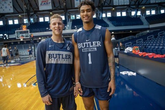 Butler's native New Yorkers: Butler Guard Paul Jorgensen (5) and forward Jordan Tucker (1).