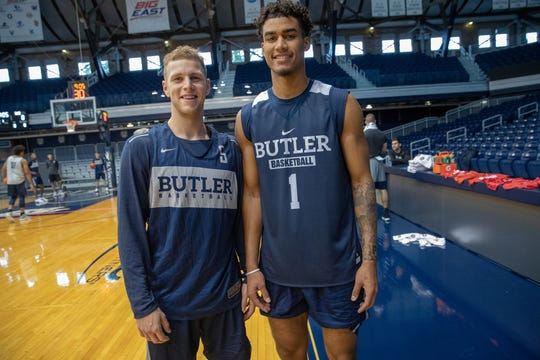 Butler's native New Yorkers: Butler Guard Paul Jorgensen (5) and forward Jordan Tucker (1).