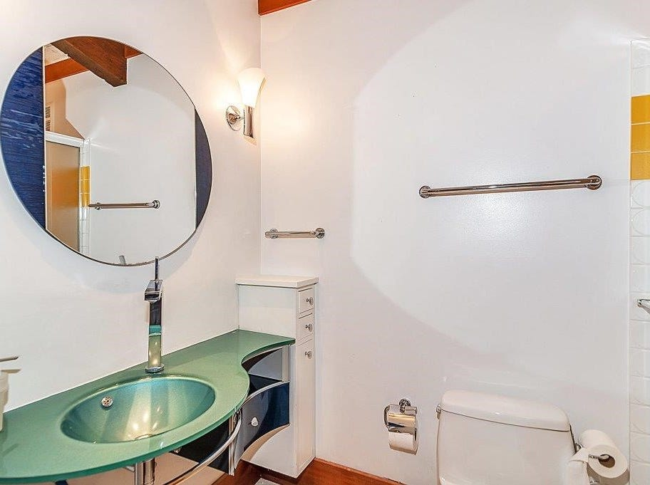 One of the home's three and a half bathrooms.