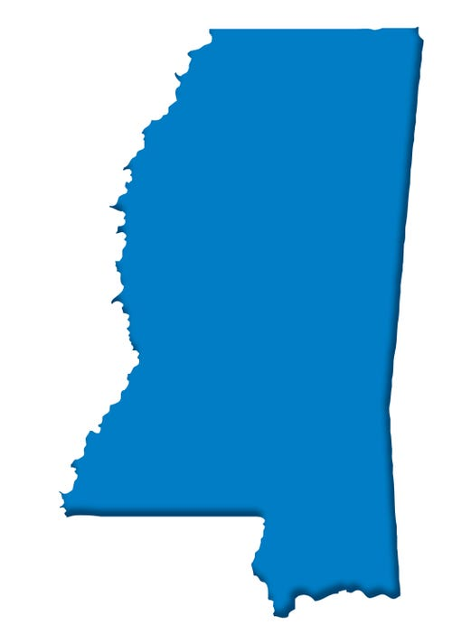 Blue Mississippi Map