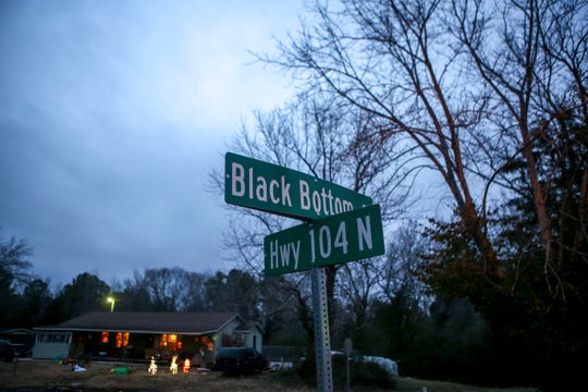 The intersection with Black Bottom Road can be seen here along Highway 104 in Lexington, Tenn., on Wednesday, Dec. 12, 2018.
