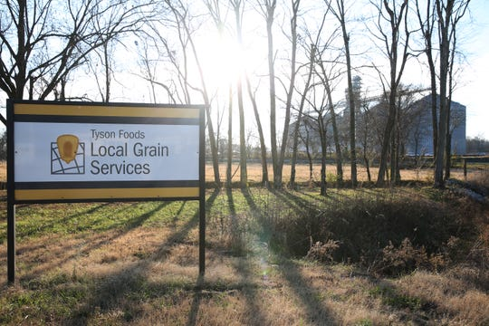 Farmers from around the area can sell their grain to Tyson's local grain services in Fruitland, Dyer and Kenton.  Dec. 11, 2018. Pam Dietz/Jackson Sun