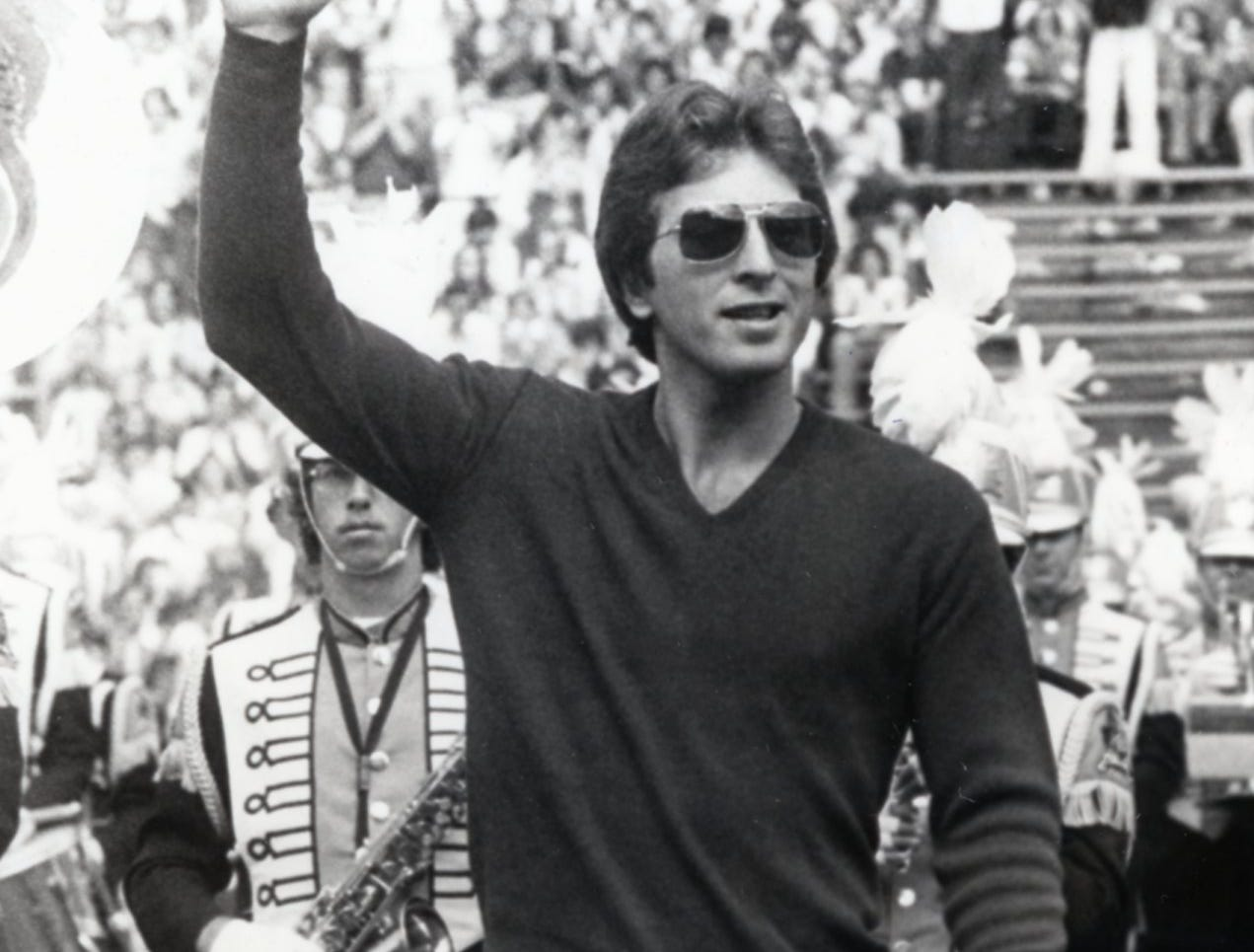Ernie Grunfeld, member of the 1976 Olympic gold medal winning basketball team was honored at halftime of the October 6, 1976 UT football game.