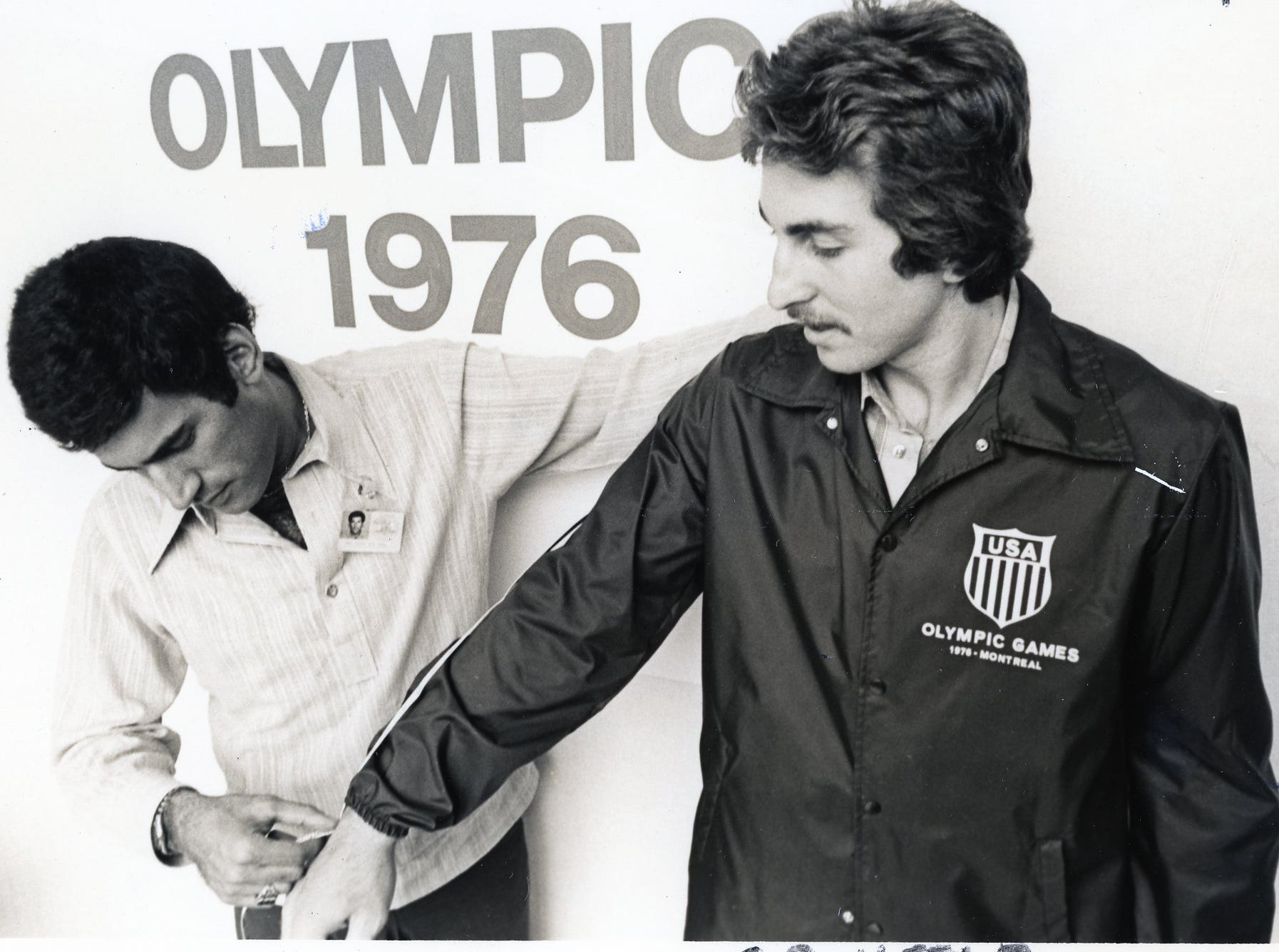 Ernie Grufeld, right, at the 1976 Olympic games.