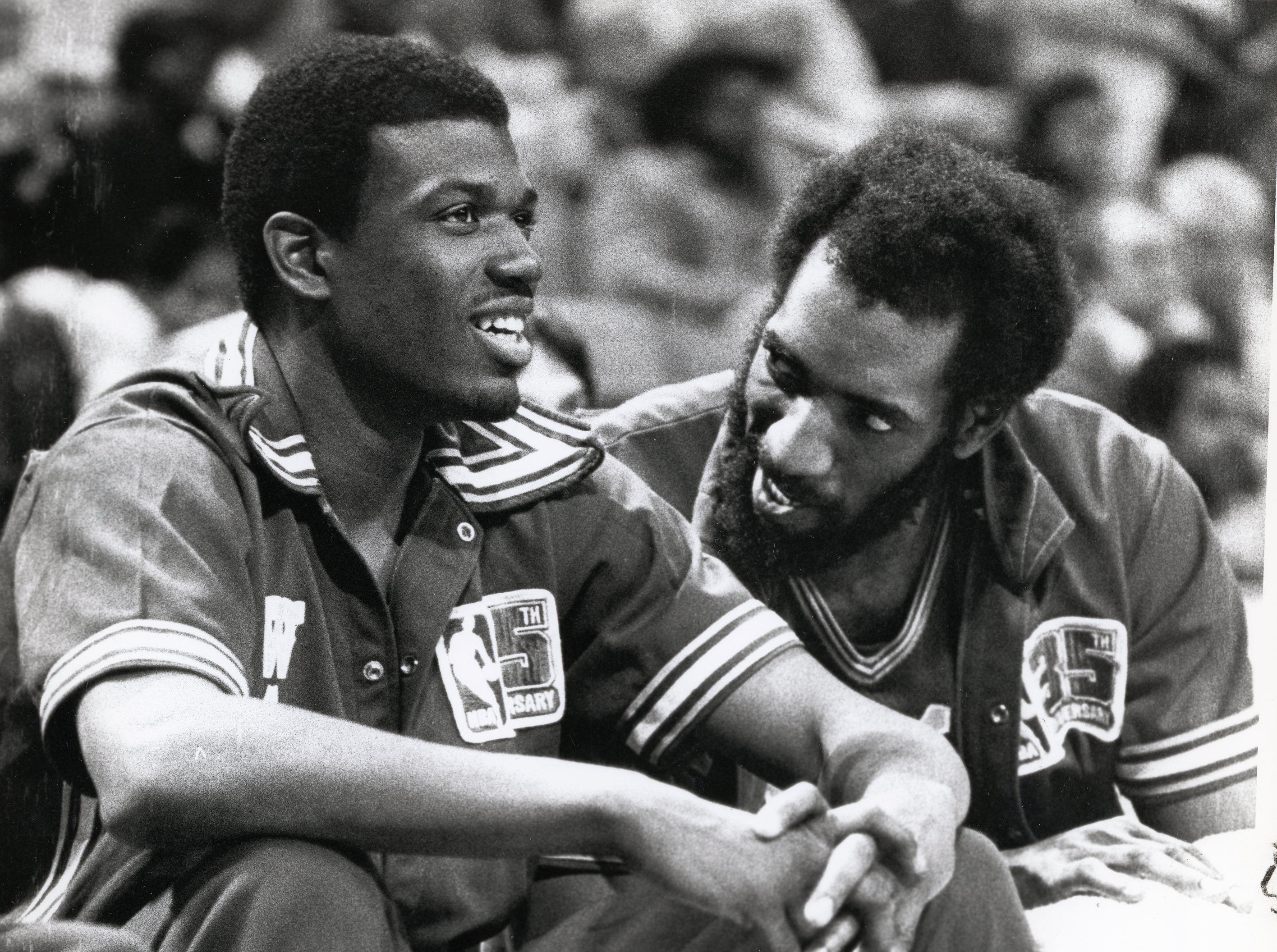 Bernard King, left, and Clifford Ray in a February, 1981 NBA photo.