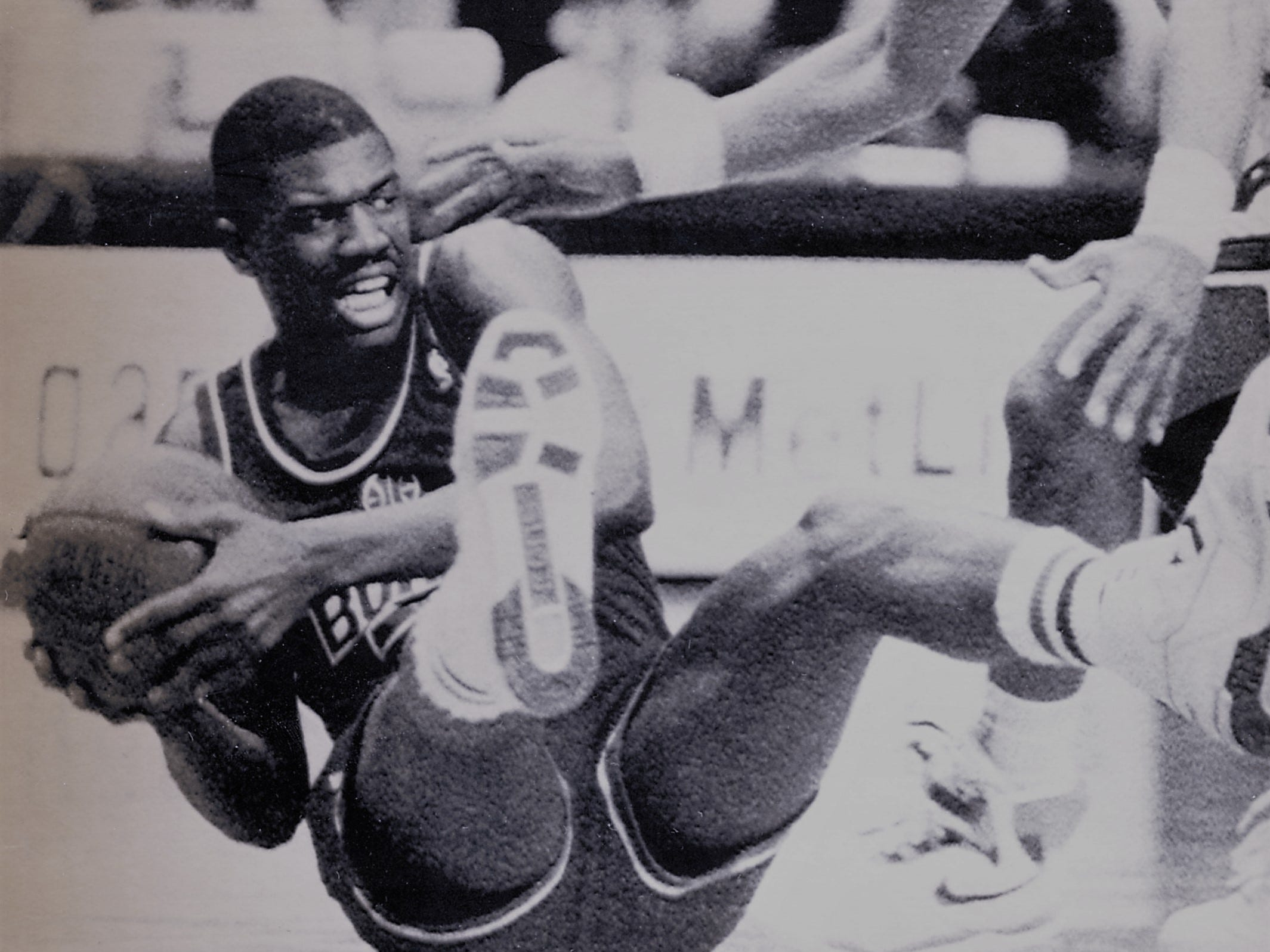Bernard King with the Washington Bullets, January, 1990.