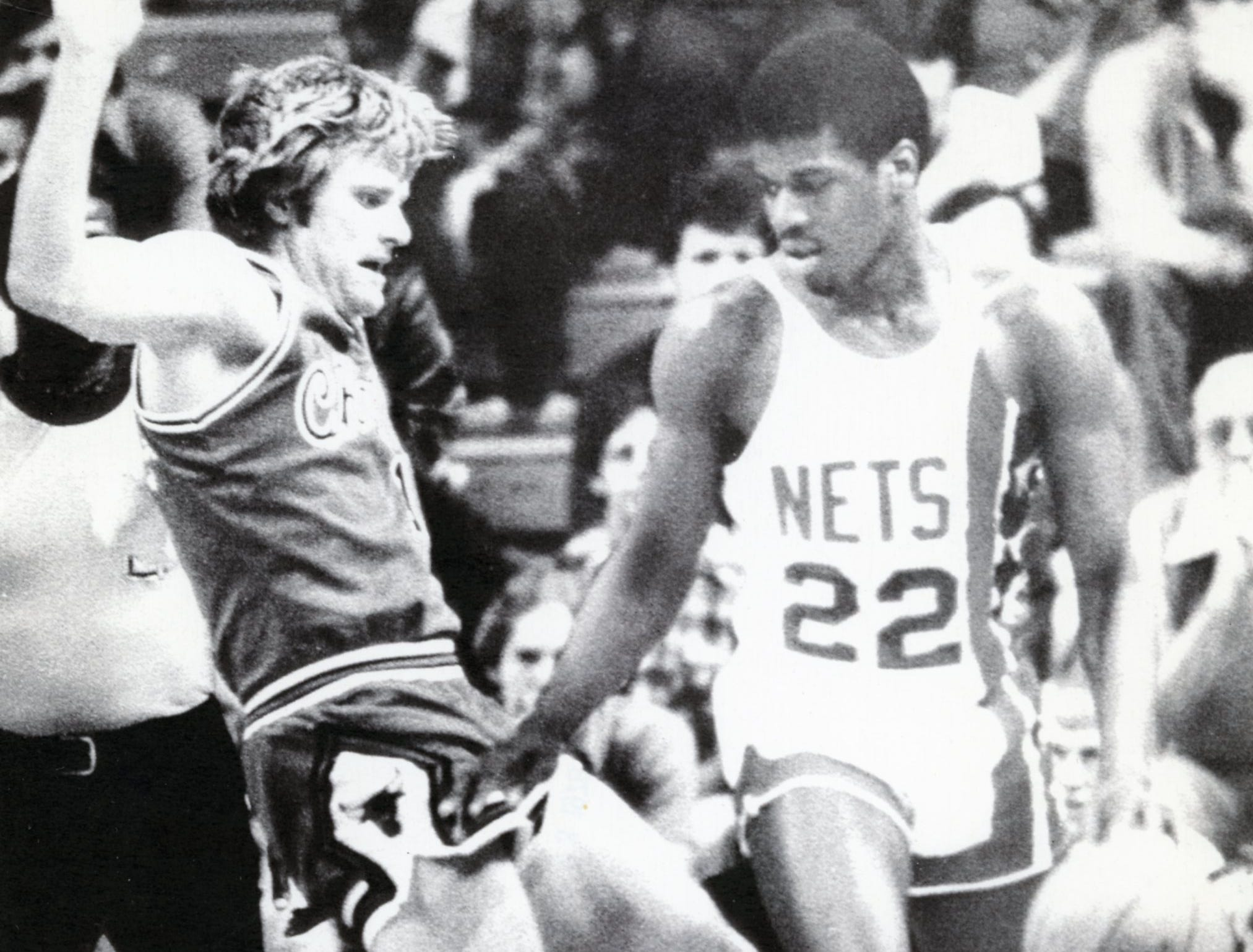 New Jersey Nets' Bernard King, right, March, 1978.