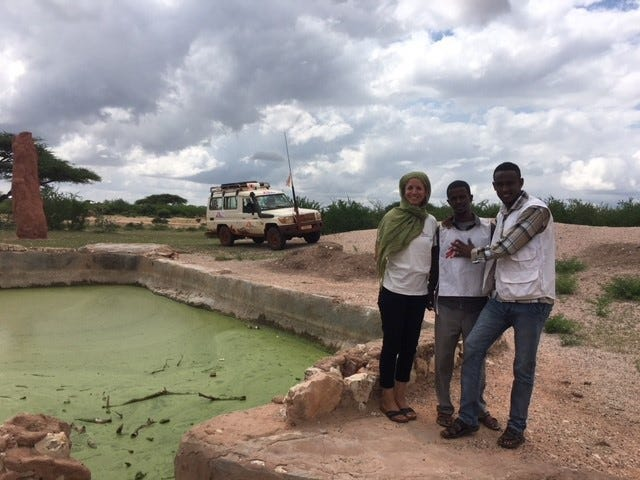 AntigonePantanizopoulos, left, stands with her MSF colleagues in Ethiopia. Pantanizopoulos has been in Ethiopia since May providing health care in the Somali region.