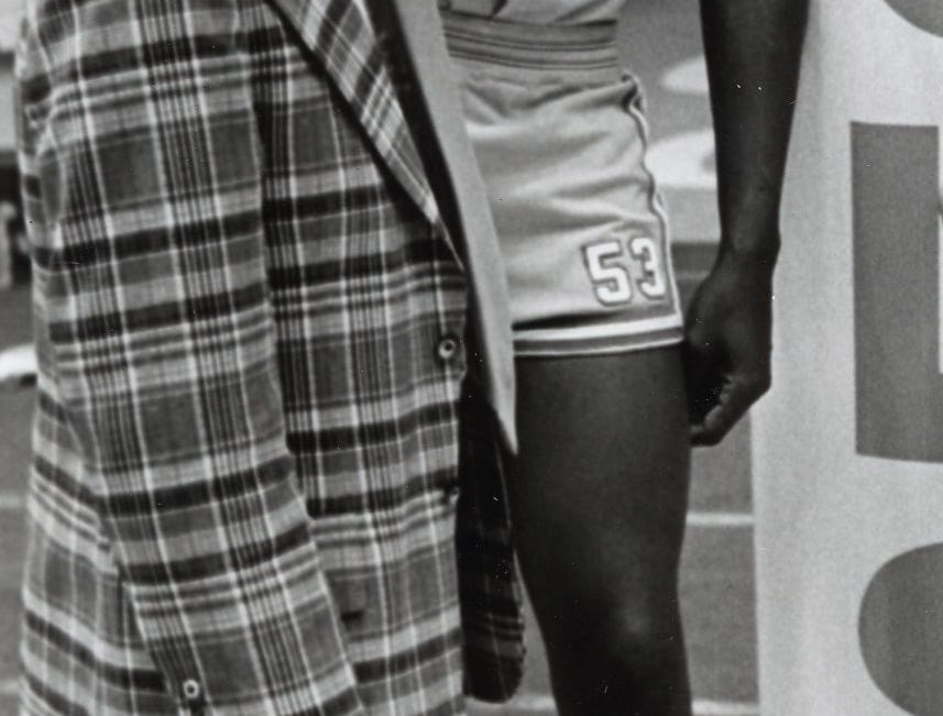 Bernard King, right, October, 1974.