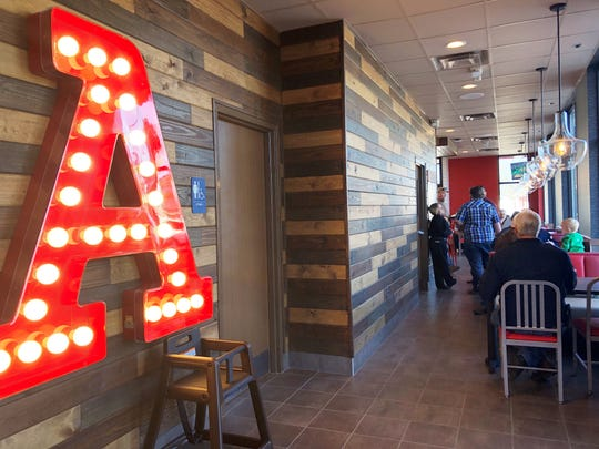 """The new building is unique in the Arby's chain of fast-casual restaurants. """"It is totally different to the other locations and it one of the first that they are using as a test restaurant,"""" said general manager Mike Powers."""