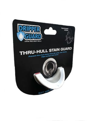 The Dripper Guard prevents wastewater from running down the boat and causing a stain.
