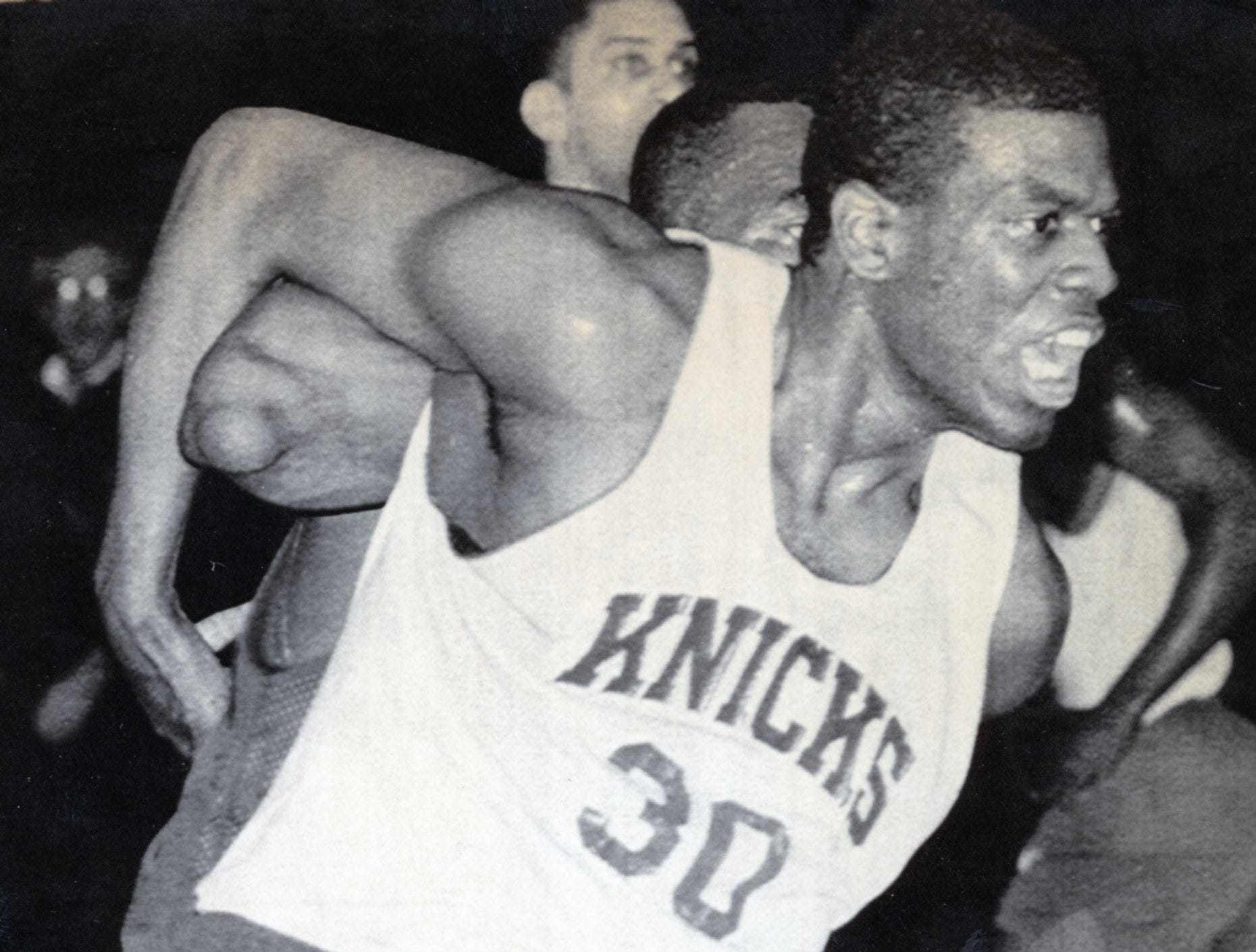 Former UT Vol Bernard King during practice with the New York Knicks, April, 1987.