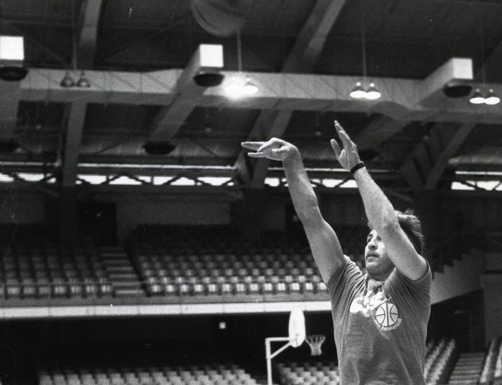 Former Vol Ernie Grunfeld at the UT Camp of Champions, June, 1981.
