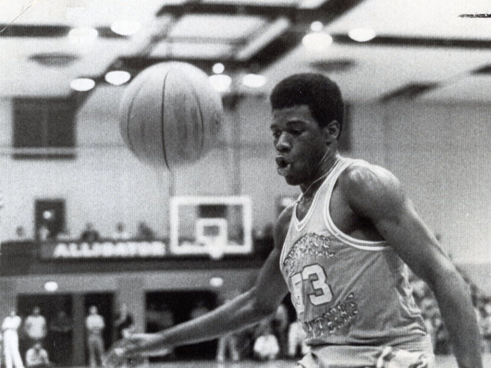 Bernard King during a game in Gainesville, February, 1976.