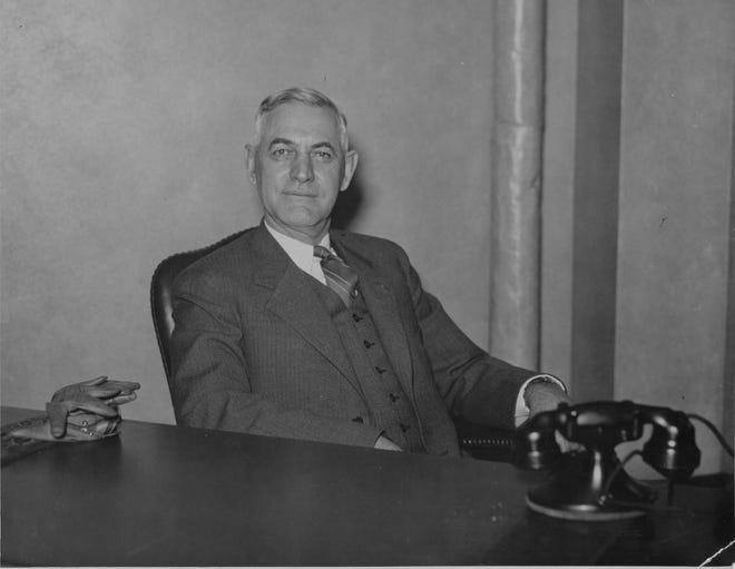Former Indiana Gov. Harry G. Leslie shown on April 11 1935.