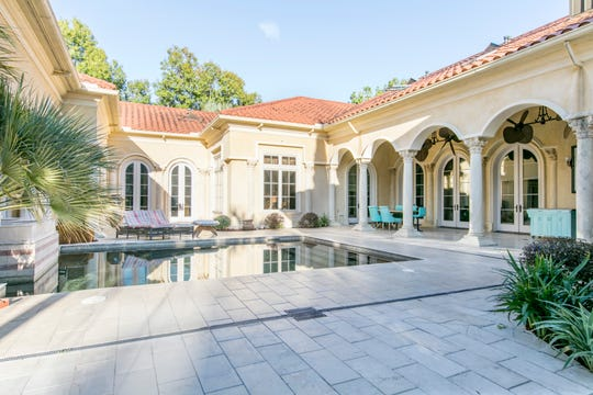 The pool is an inviting oasis in the courtyard.