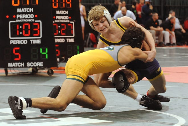 Lancaster junior Logan Agin is one of the top wrestlers in the state in his weight class. Agin helped the Golden Gales win their fourth consecutive Ohio Capital Conference-Ohio Division title, as well the school's first ever district championship. Agin placed third in the state tournament.