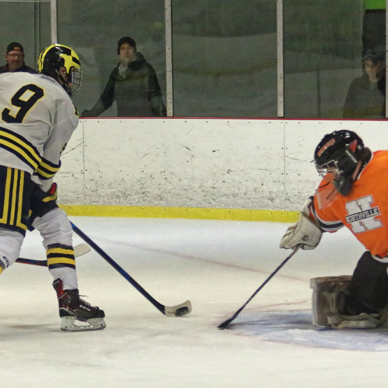 Angry Hartland hockey team routs Northville, 8-0