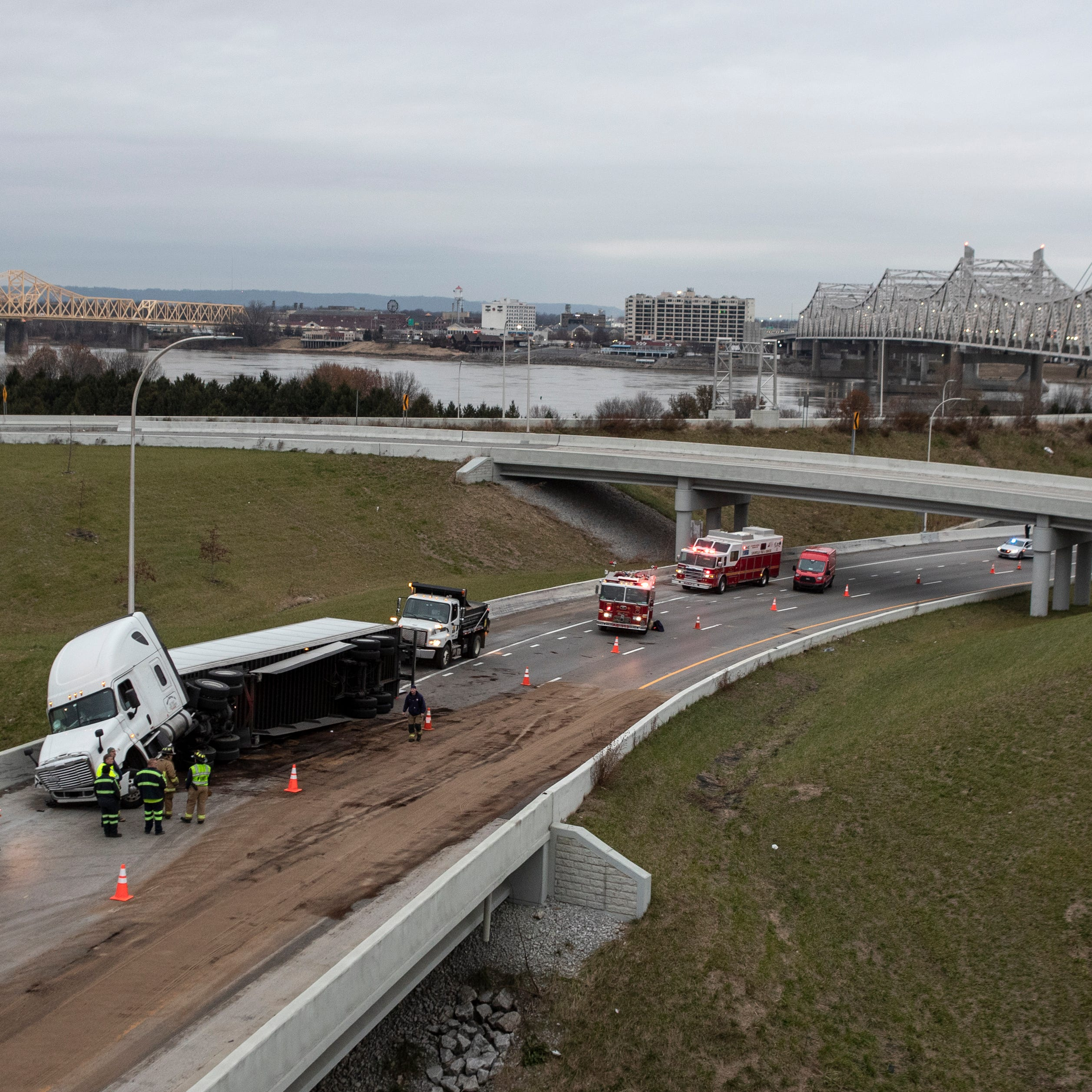 A crash detoured traffic and some ended up over the toll bridge — and back