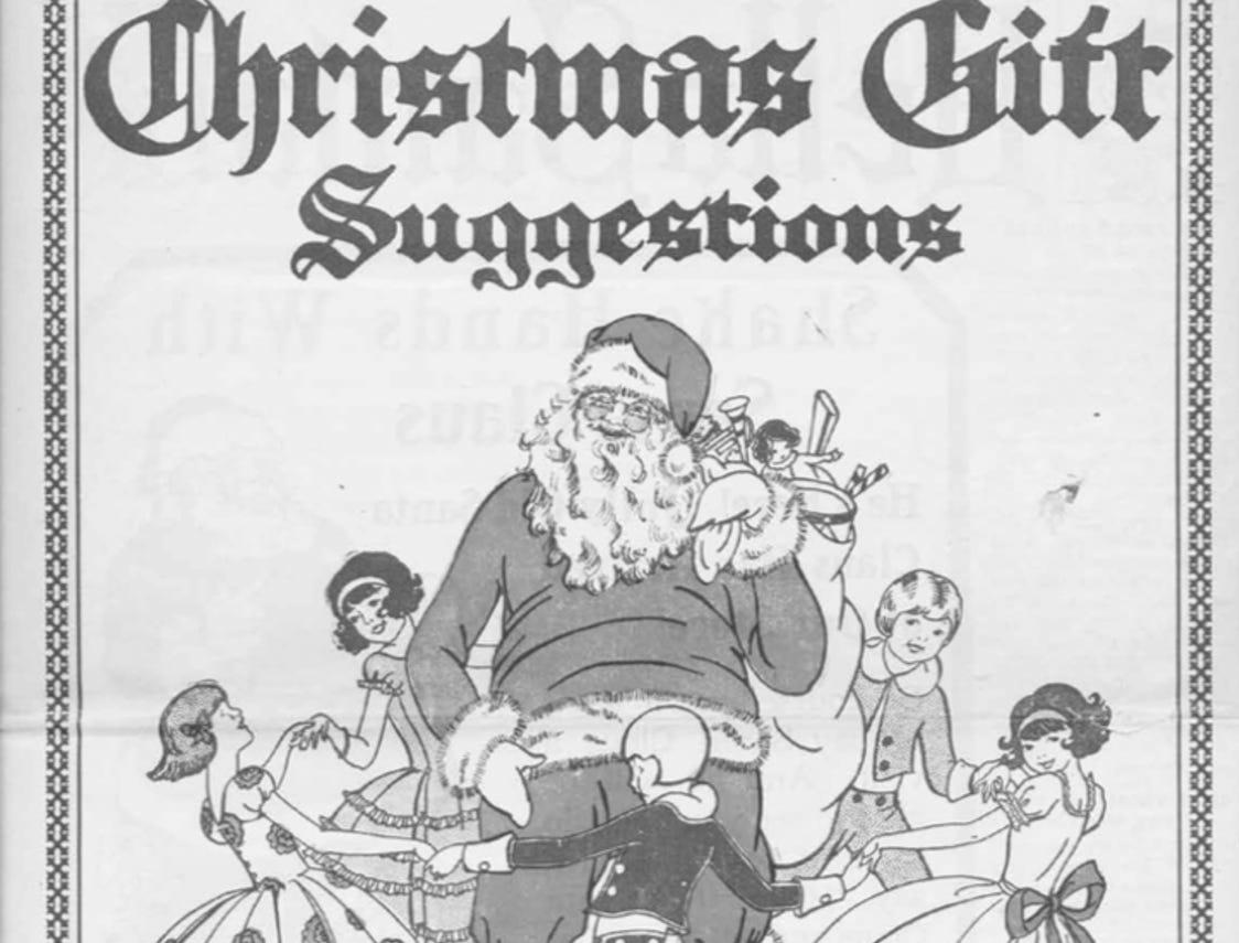 J.W. Knapp 1924 Christmas Gift catalog.