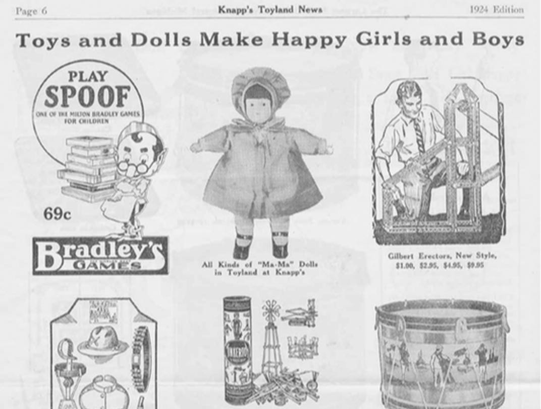 J.W. Knapp 1924 Christmas Gift catalog, page 6.