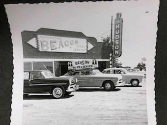 Beacon Sales & Service at its original location at Vermontville Highway and M-50 in the 1950s.