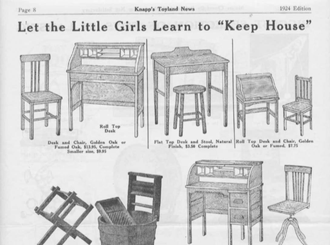 J.W. Knapp 1924 Christmas Gift catalog, page 8.