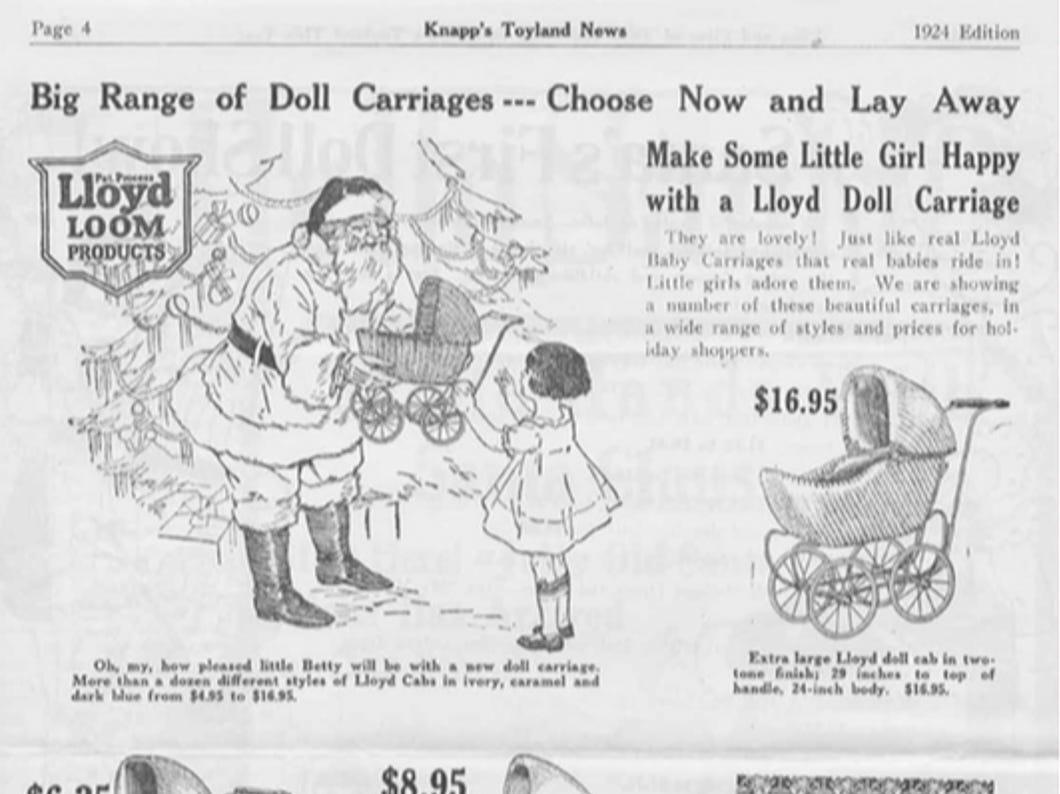 J.W. Knapp 1924 Christmas Gift catalog, page 4.