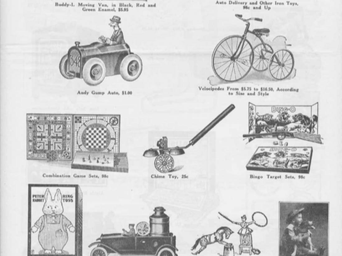 J.W. Knapp 1924 Christmas Gift catalog, page 9.