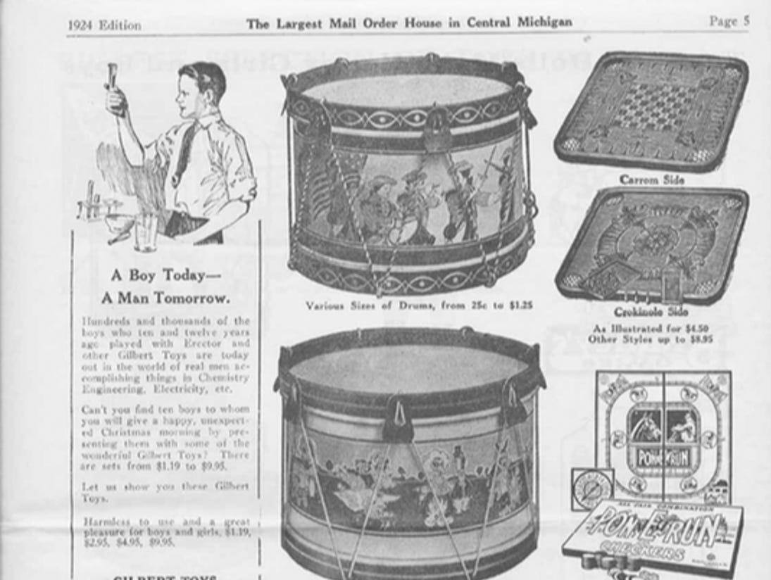 J.W. Knapp 1924 Christmas Gift catalog, page 5.
