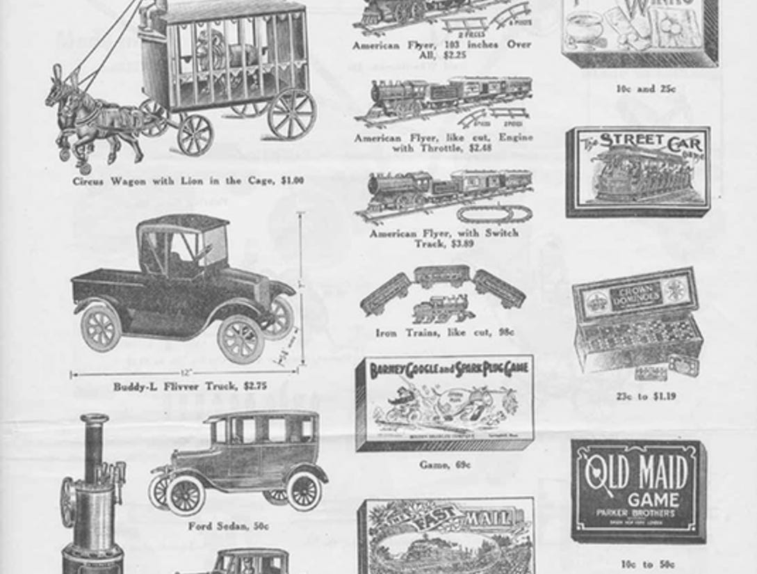 J.W. Knapp 1924 Christmas Gift catalog, page 13.