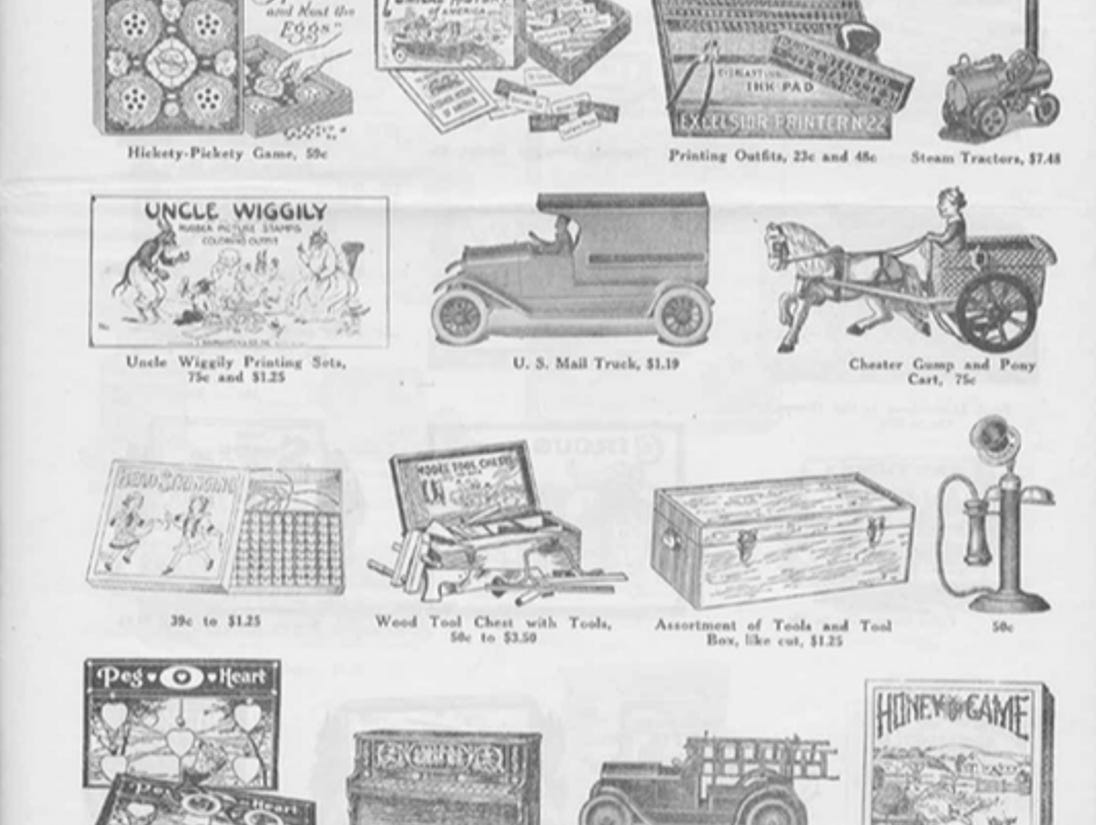 J.W. Knapp 1924 Christmas Gift catalog, page 11.