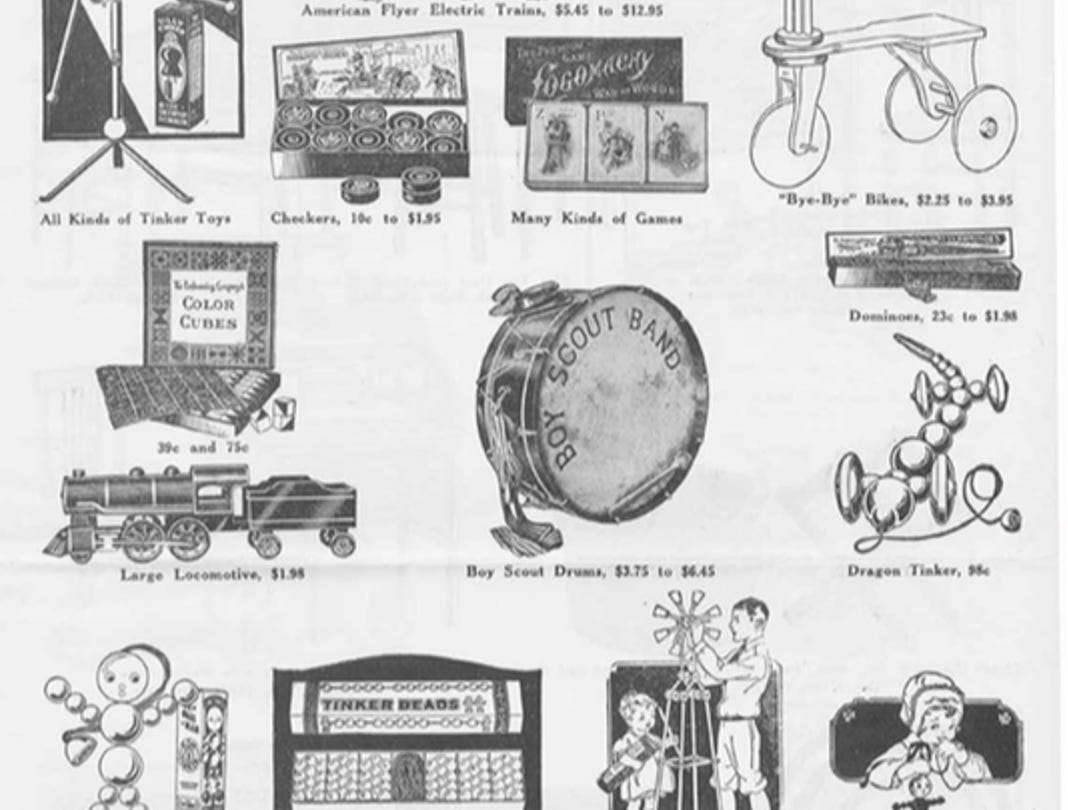 J.W. Knapp 1924 Christmas Gift catalog, page 7