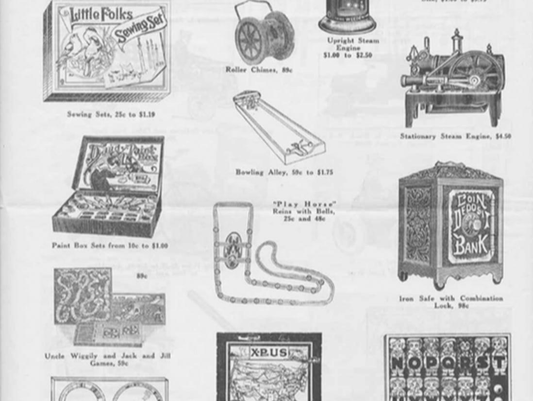 J.W. Knapp 1924 Christmas Gift catalog, page 10.