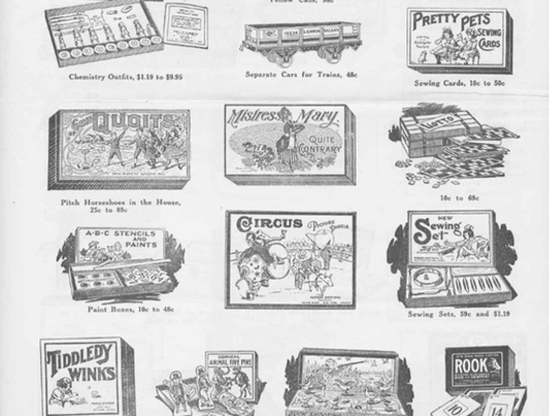 J.W. Knapp 1924 Christmas Gift catalog, page 12.