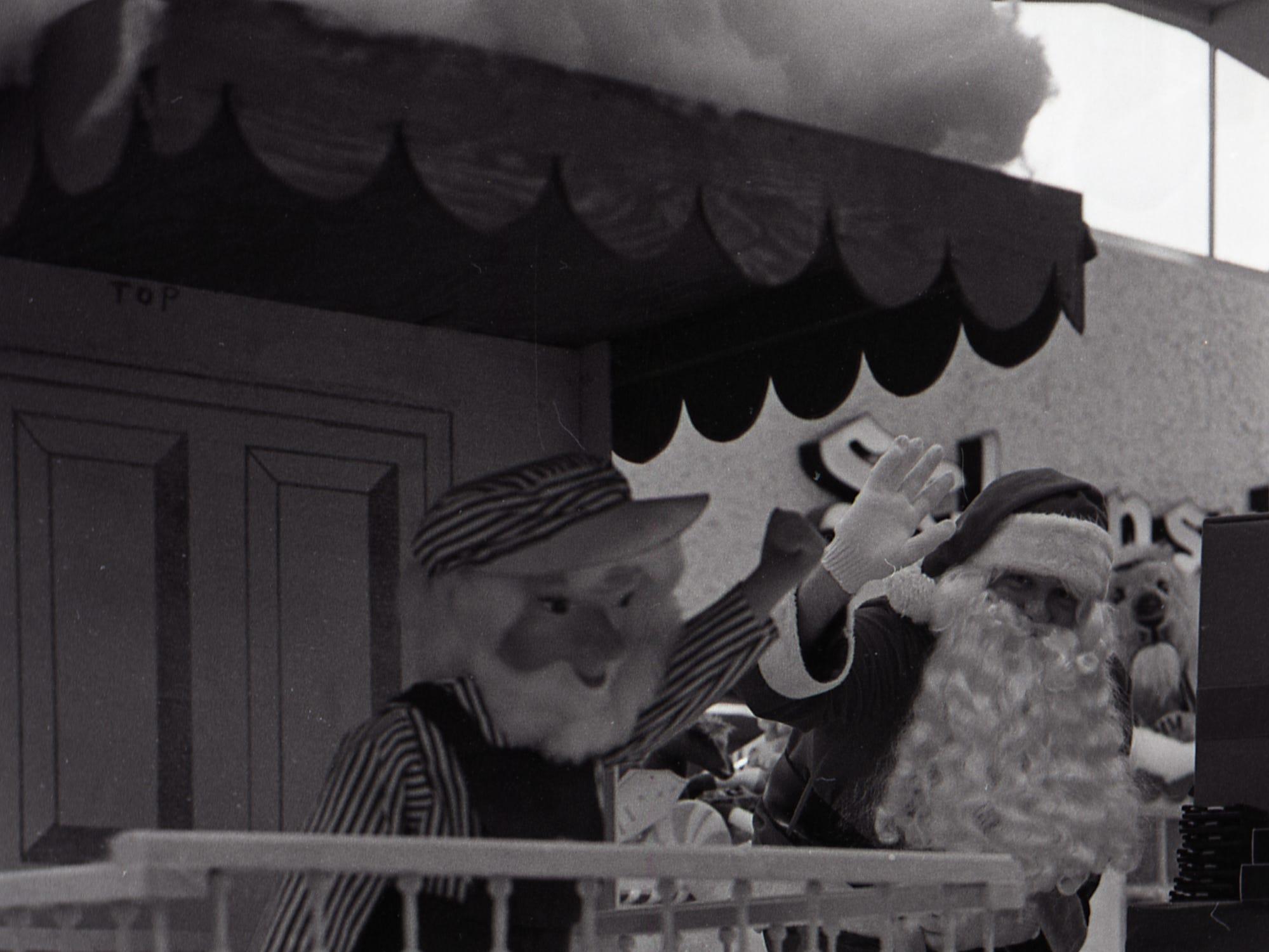 Santa at the Lansing Mall, Nov. 29, 1977.