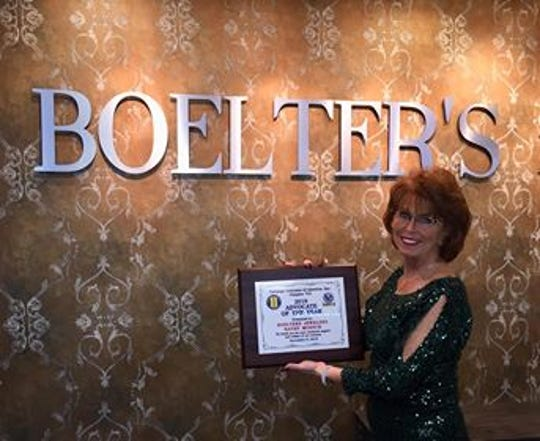 Kathy Muench of Boelter's Jewelers in Manitowoc has been named Advocate of the Year by the Vietnam Veterans of America Chapter 731 of Manitowoc County.