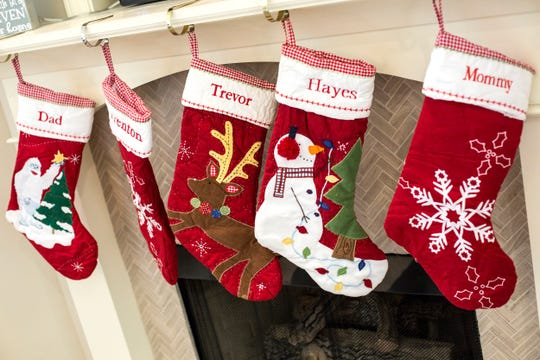 December 13 2018 - A stocking for Trevor is seen inside of Lisa Trumbo's home. Trumbo is a bereaved parent mentor who is helping other parents cope with loss at St. Jude Children's Research Hospital. Her son, Trevor, was a St. Jude patient who died of a brain tumor at just 4 years old.