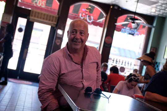 Host Andrew Zimmern excited to indulge in his guiltiest of guilty pleasures--a burger at Dyer's, as seen on Travel Channel's The Zimmern List.
