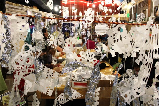 Kids are invited to add their creations to the paper snow storm at Betty Brinn Children's Museum during winter break week.