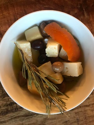 Marinated Manchego and Olives is simple to make and has many variations.
